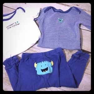 Carters monster three piece set